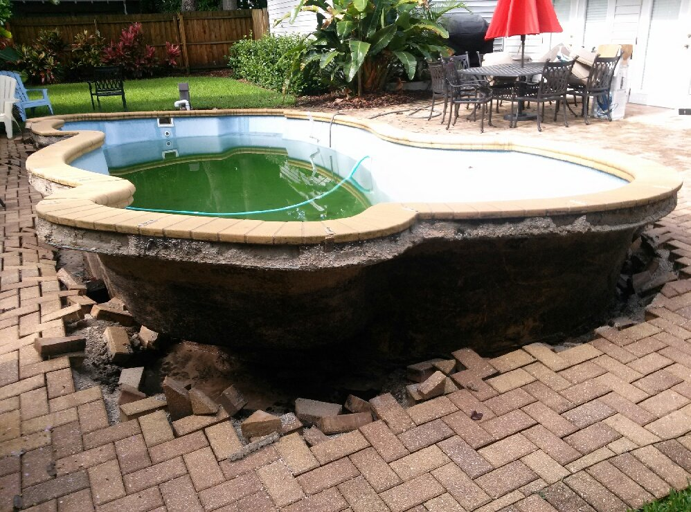 Pool Construction Mistakes 101 - When they pop out of the ground like that, it's not a feature.